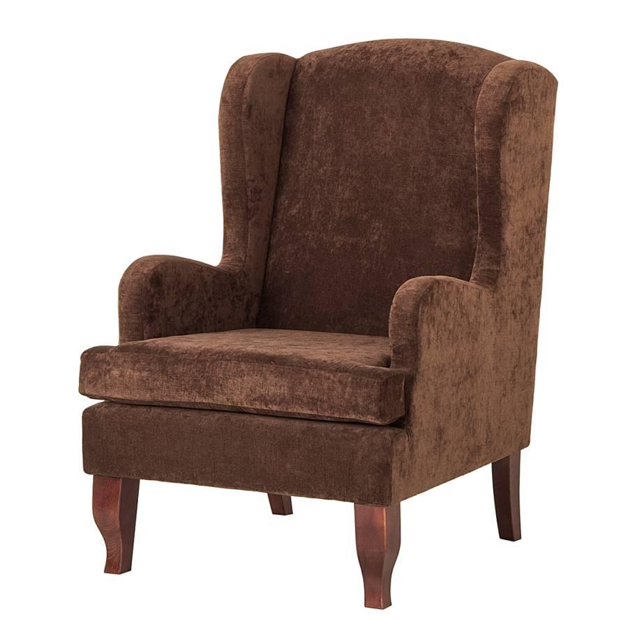 ohrensessel italo webstoff braun home24. Black Bedroom Furniture Sets. Home Design Ideas