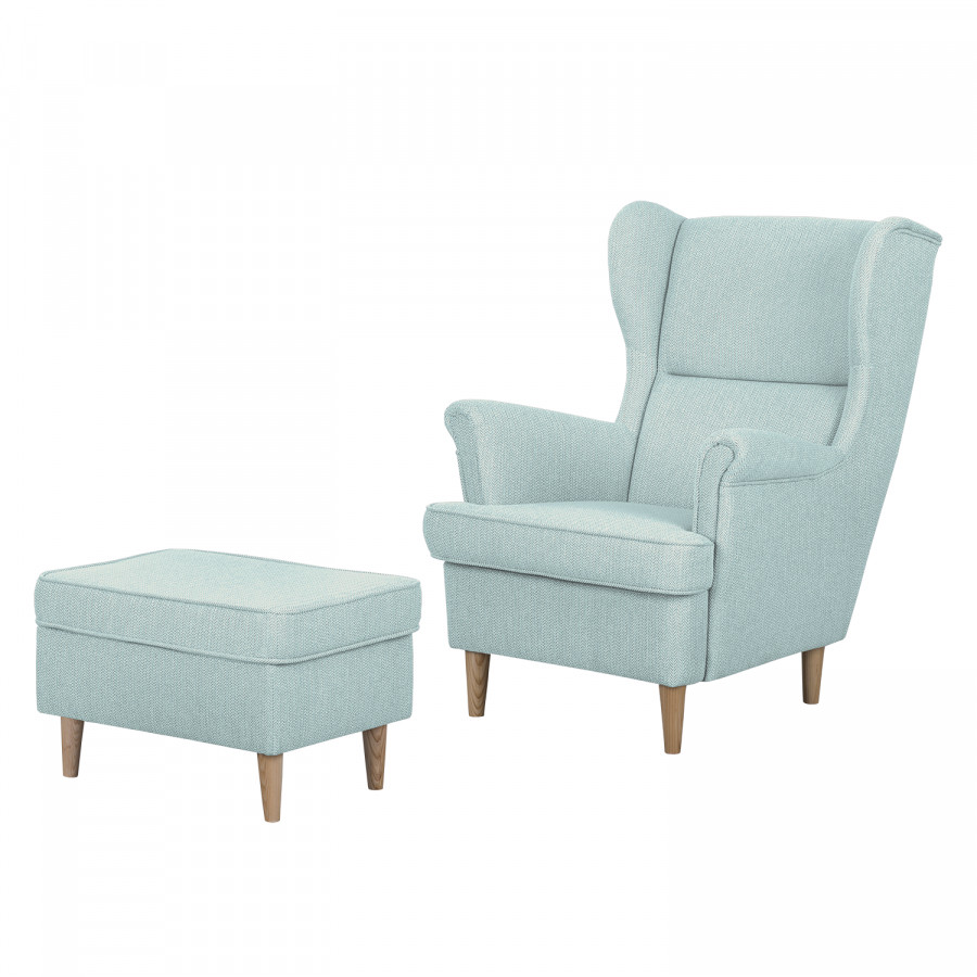 ohrensessel juna iii in mint hocker by johanna klum home24. Black Bedroom Furniture Sets. Home Design Ideas