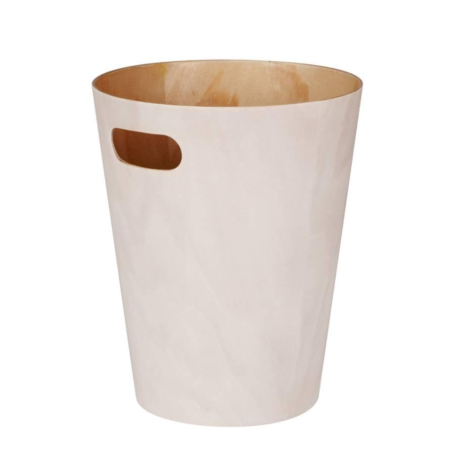 papierkorb woodrow holz beige. Black Bedroom Furniture Sets. Home Design Ideas