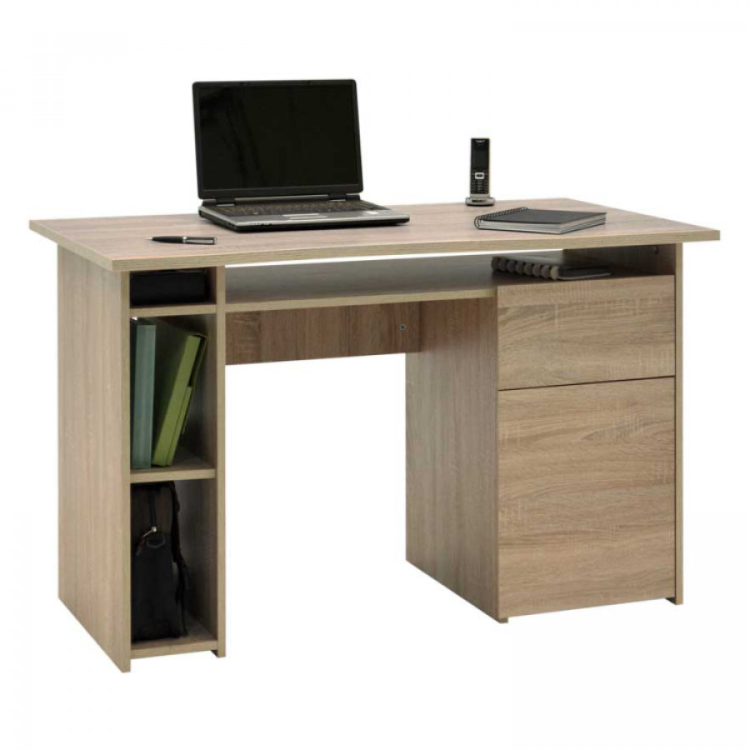 pc tisch muestrac sonoma eiche home24. Black Bedroom Furniture Sets. Home Design Ideas