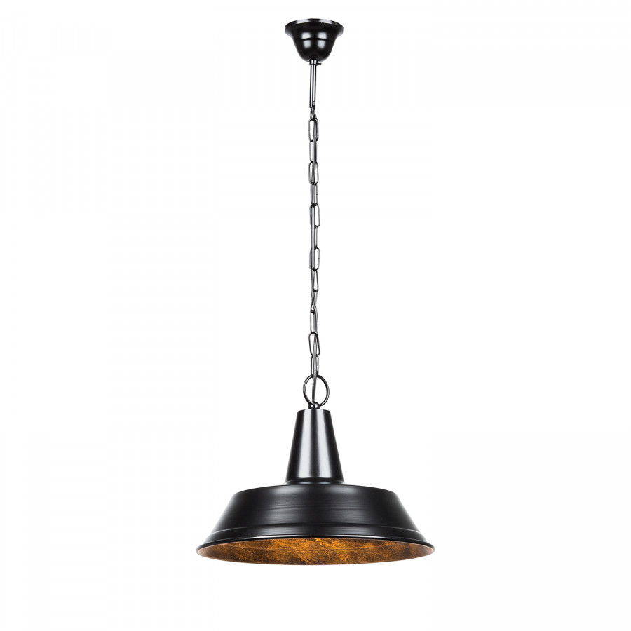pendelleuchte 1 flammig 35cm rund schwarz rost home24. Black Bedroom Furniture Sets. Home Design Ideas