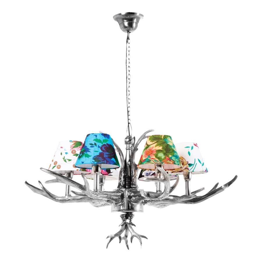 pendelleuchte hl antler flowers 6er metall stoff home24. Black Bedroom Furniture Sets. Home Design Ideas