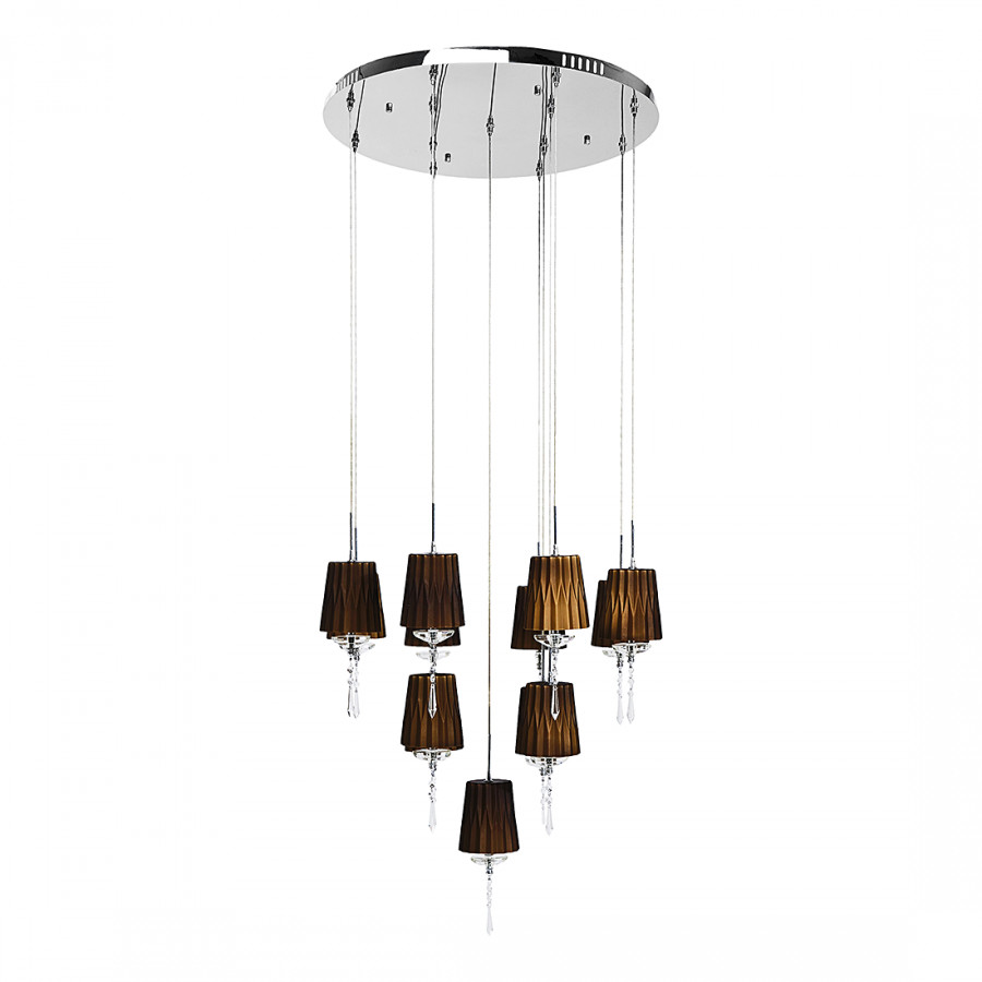 suspension hl art deco m tal verre 13 ampoules. Black Bedroom Furniture Sets. Home Design Ideas