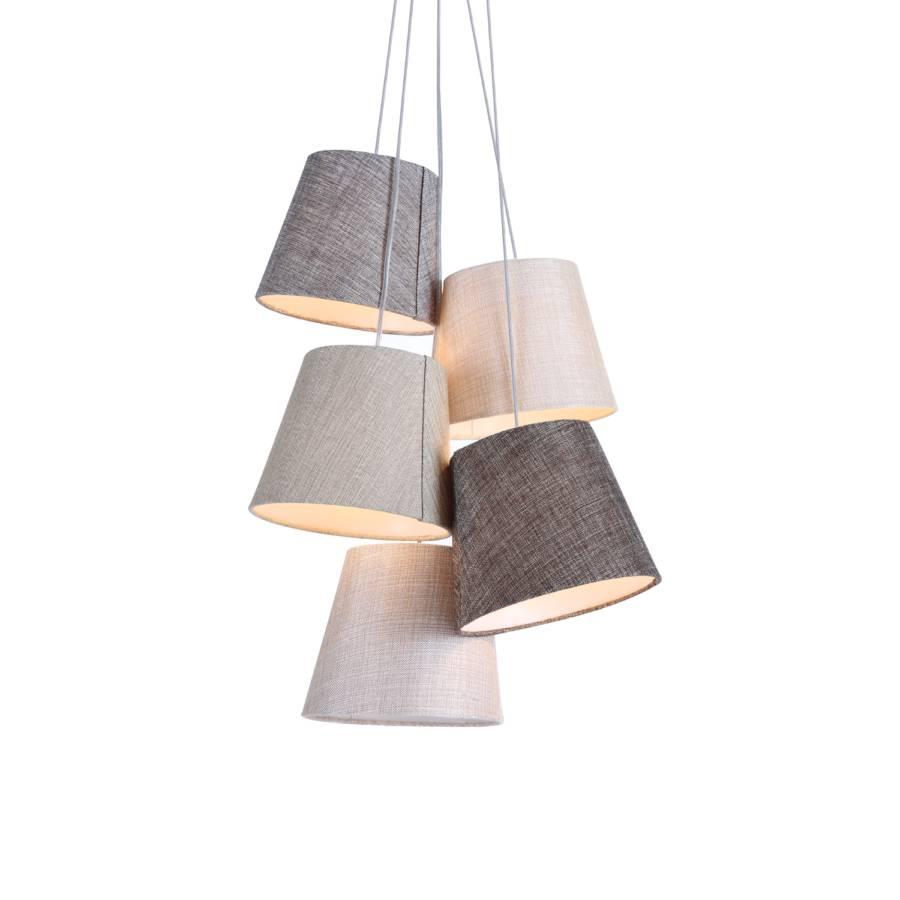 pendelleuchte illon webstoff home24. Black Bedroom Furniture Sets. Home Design Ideas
