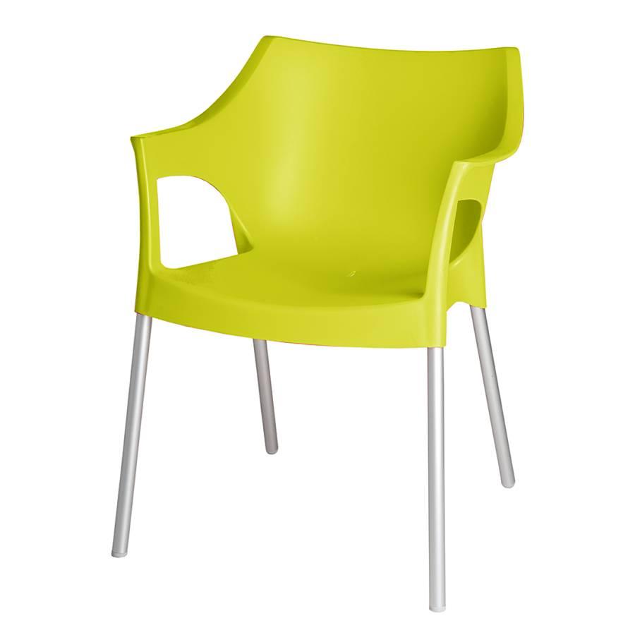 Blanke design armlehnenstuhl f r ein modernes heim home24 for Design stapelstuhl