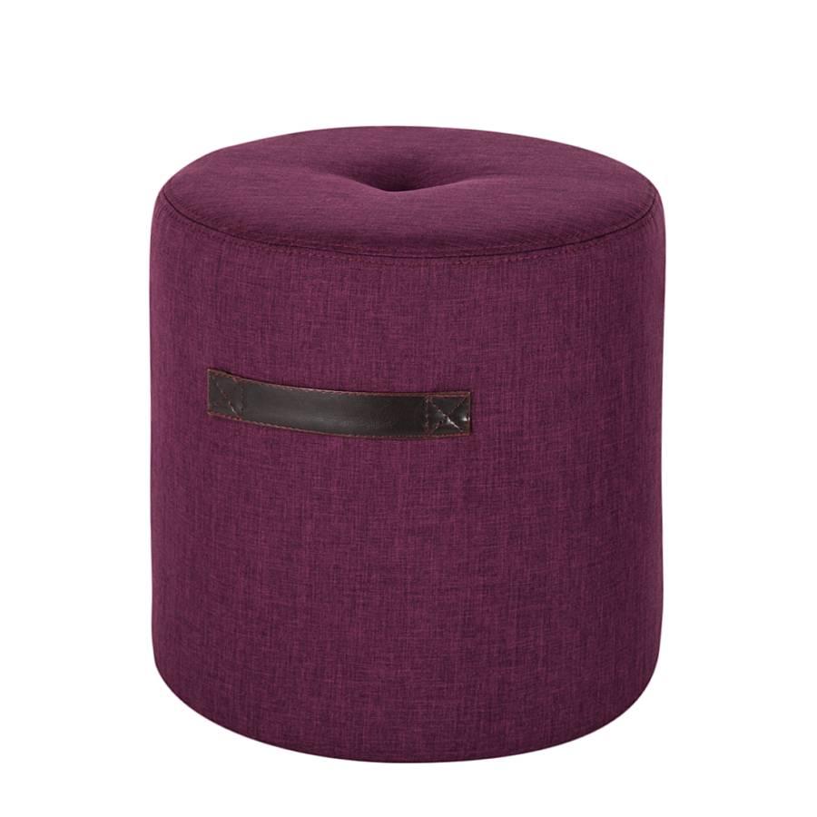 polsterhocker manu stoff lila home24. Black Bedroom Furniture Sets. Home Design Ideas
