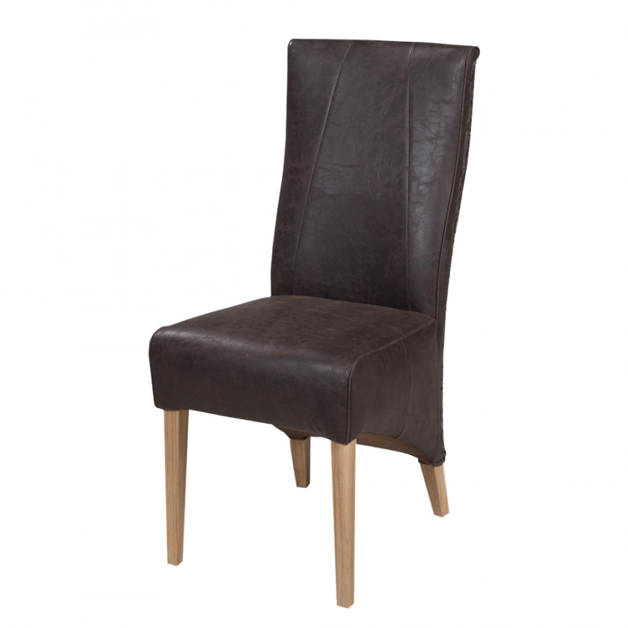 Chaise rembourr e charleston imitation cuir rotin - Chaise imitation cuir ...
