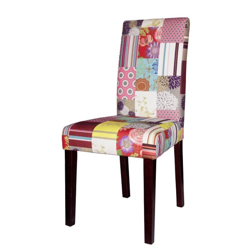 polsterstuhl lilou pinie massivholz patchwork samt home24. Black Bedroom Furniture Sets. Home Design Ideas
