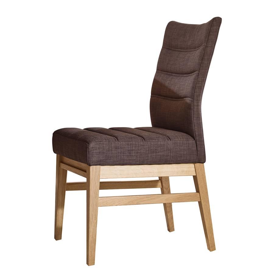 polsterstuhl oakland 2er set webstoff eiche massiv. Black Bedroom Furniture Sets. Home Design Ideas