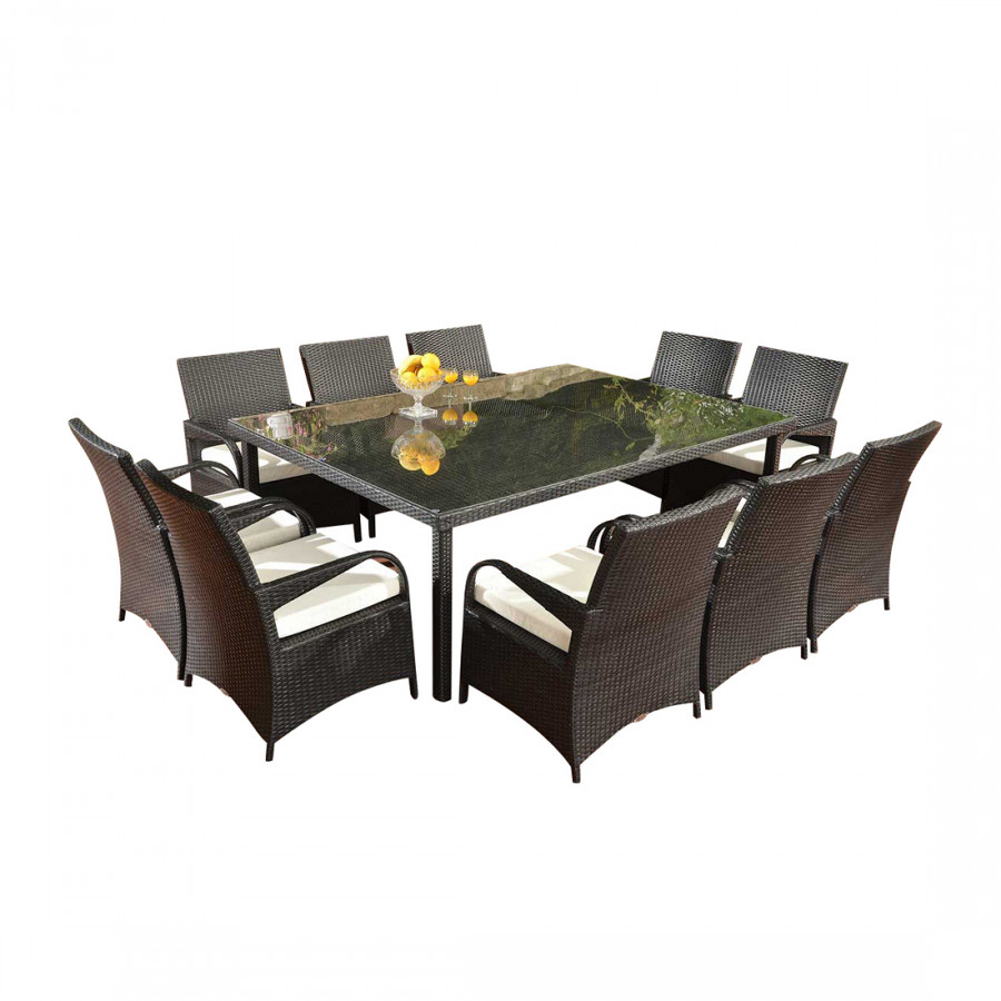 polyrattan xxl sitzgruppe pizzo rattan home24. Black Bedroom Furniture Sets. Home Design Ideas