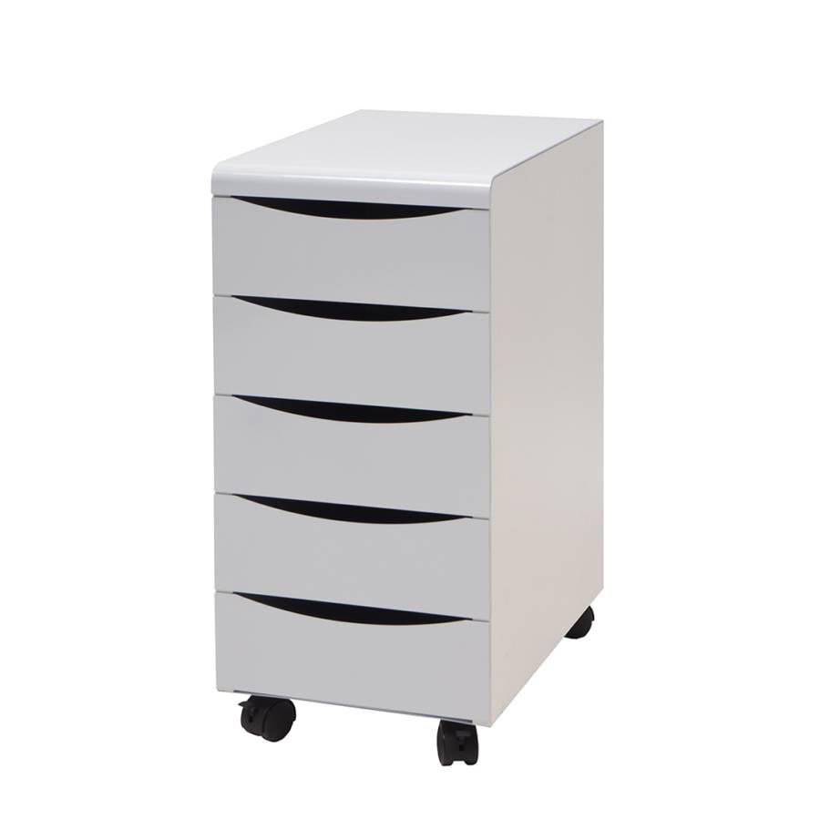 Rangement 5 tiroirs box sur roulettes - Panneau melamine blanc brico depot ...