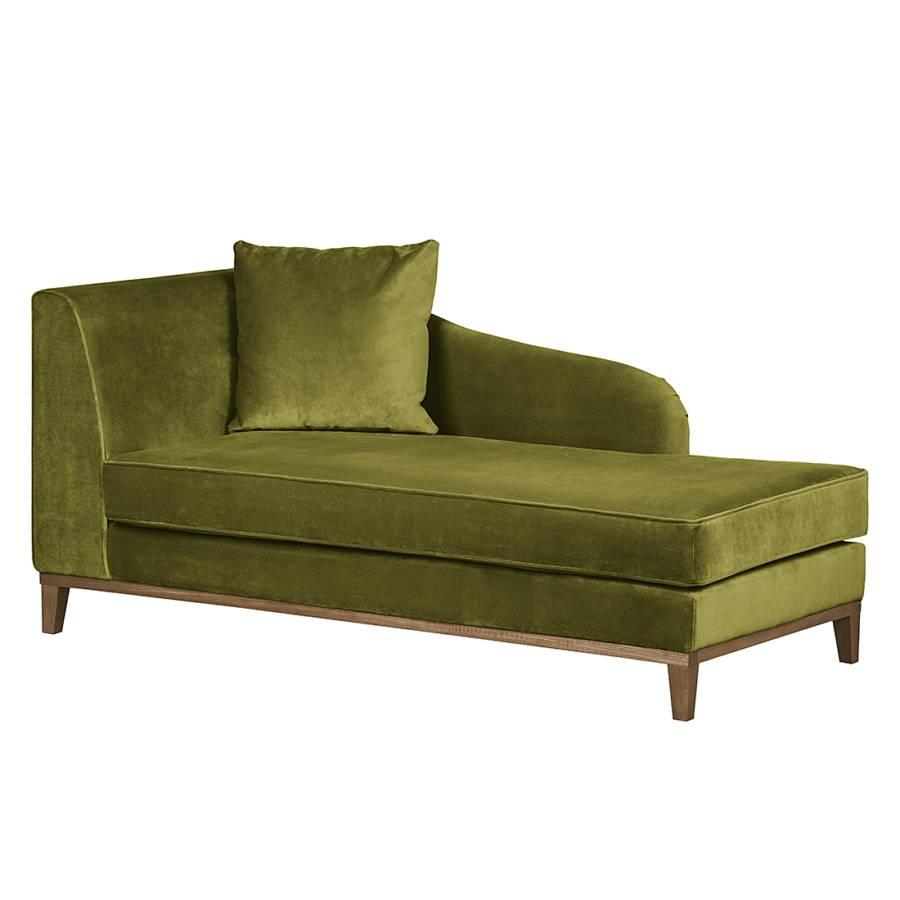 recamiere blomma samtstoff olivgr n home24. Black Bedroom Furniture Sets. Home Design Ideas
