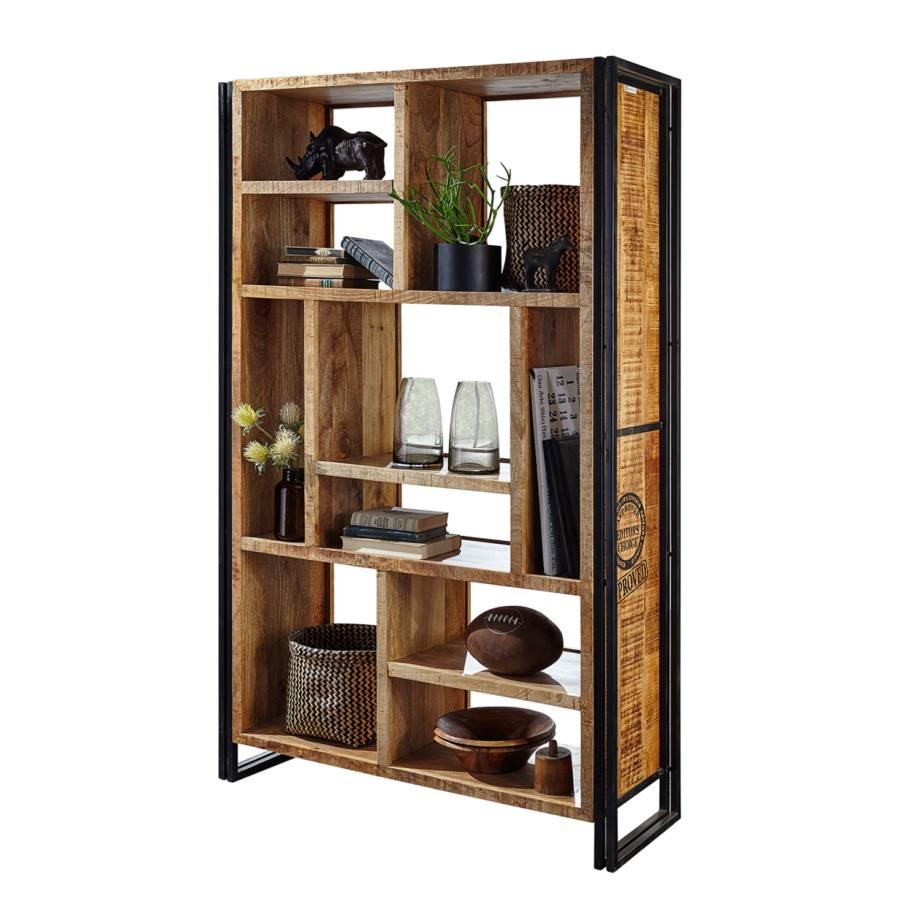 open kast himalaya ii massief mangohout ijzer. Black Bedroom Furniture Sets. Home Design Ideas