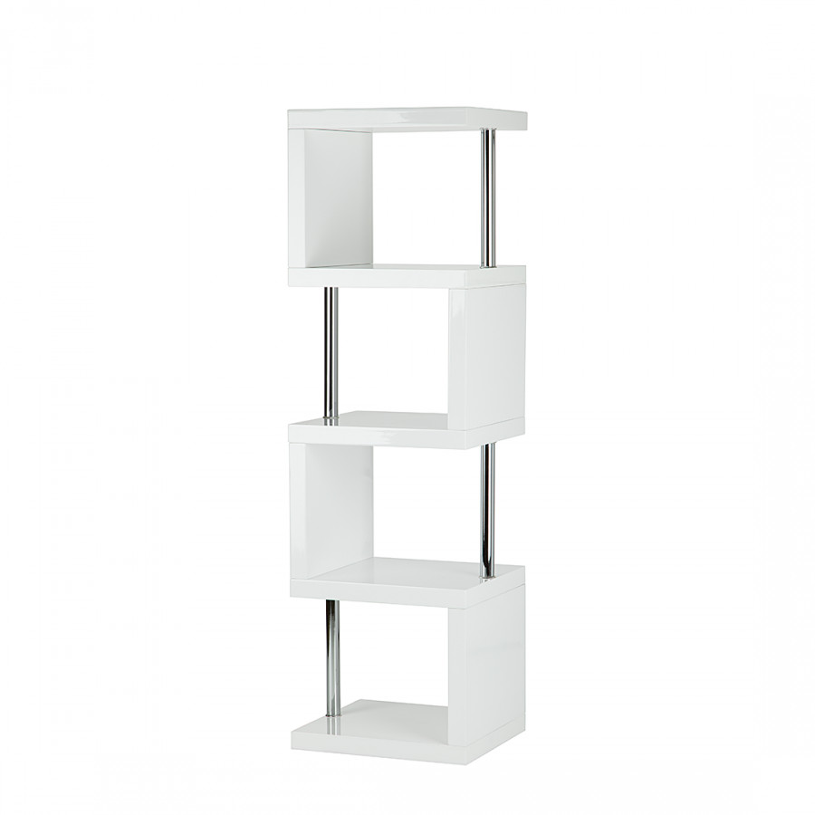Etag re milano blanc brillant for Etagere 50 cm de large