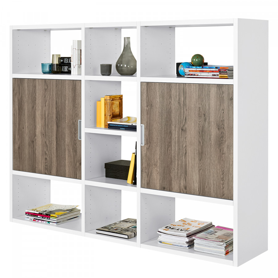 regal one wei eiche dunkel dekor. Black Bedroom Furniture Sets. Home Design Ideas