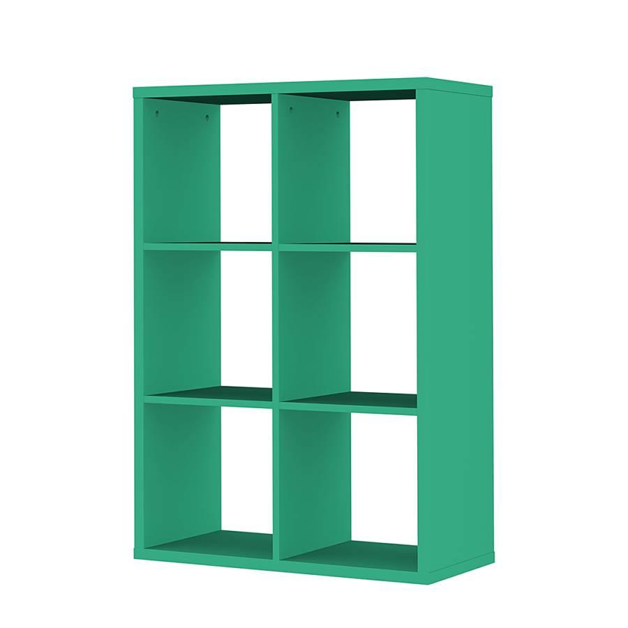 regal quadratisch box gr n home24. Black Bedroom Furniture Sets. Home Design Ideas