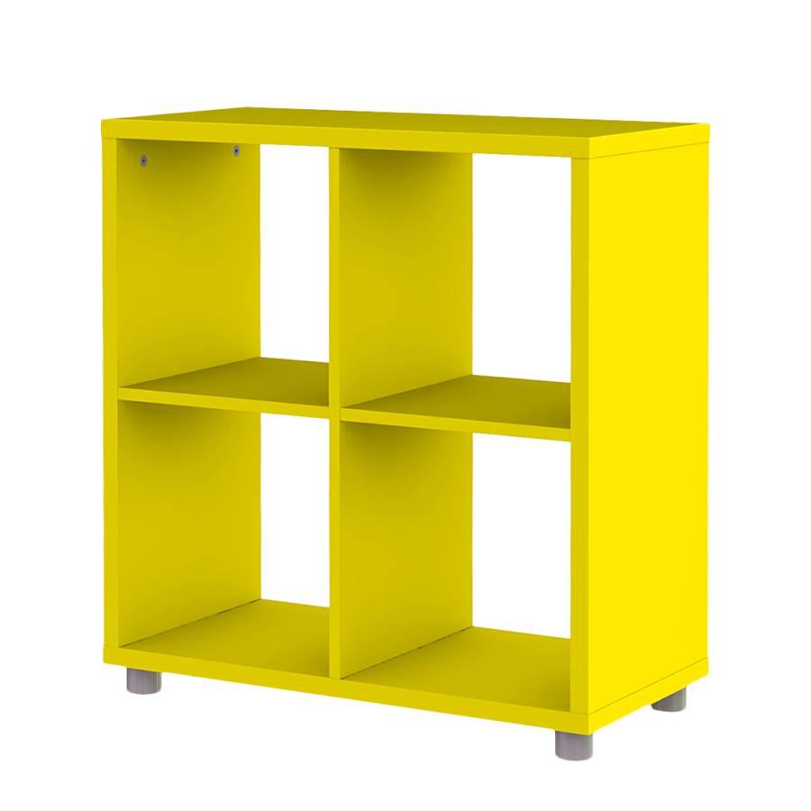regal viereckig box gelb home24. Black Bedroom Furniture Sets. Home Design Ideas