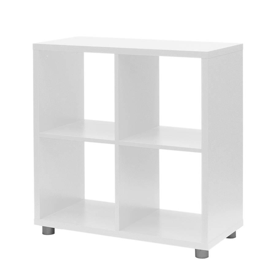 regal quadratisch box wei home24. Black Bedroom Furniture Sets. Home Design Ideas