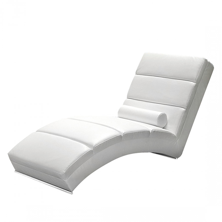Chaise de relaxation alicante cuir synth tique blanc - Chaise de relaxation ...
