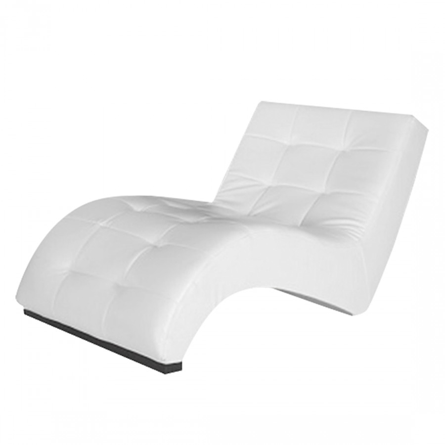 Chaise de relaxation marbella cuir synth tique blanc - Chaise de relaxation ...