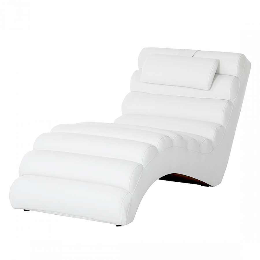 Chaise de relaxation m rida cuir synth tique blanc - Chaise de relaxation ...