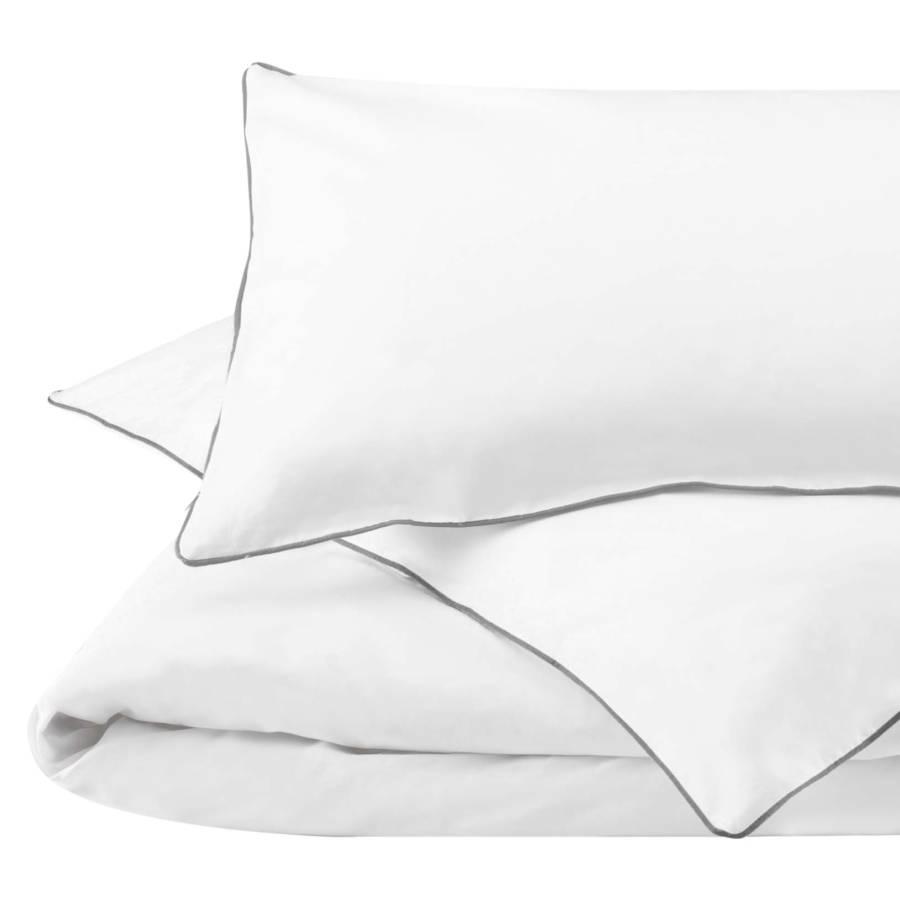 satin bettw sche lanton wei grau home24. Black Bedroom Furniture Sets. Home Design Ideas