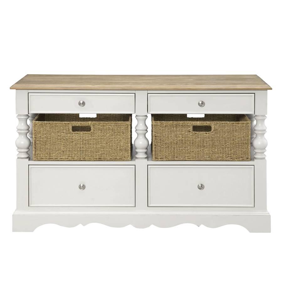 tv lowboard tennes inkl k rbe vintage wei eiche. Black Bedroom Furniture Sets. Home Design Ideas