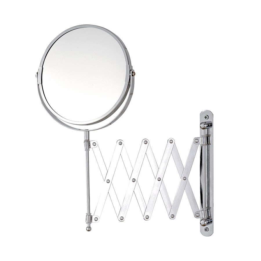 Miroir mural t lescope annika chrome avec grossissement for Miroir de telescope