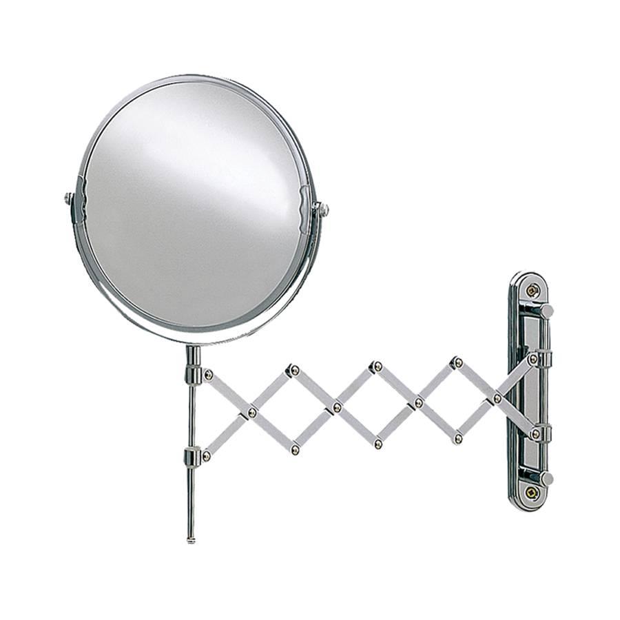 Miroir mural t lescopique franziska chrome avec Miroir telescopique
