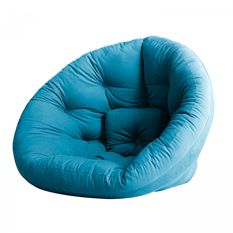 Fauteuil convertible nest futon turquoise - Fauteuil futon convertible ...