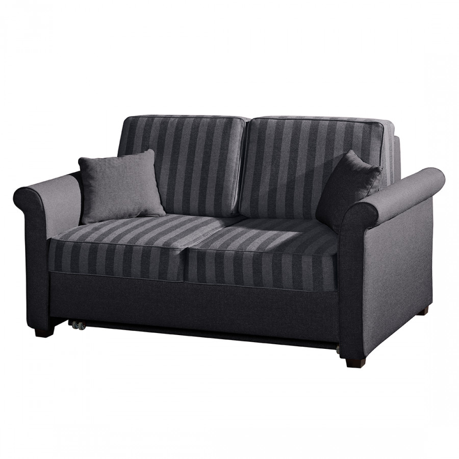 schlafsofa bernadett webstoff dunkelgrau home24. Black Bedroom Furniture Sets. Home Design Ideas
