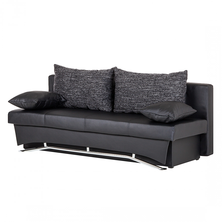 schlafsofa bonita kunstleder schwarz home24. Black Bedroom Furniture Sets. Home Design Ideas