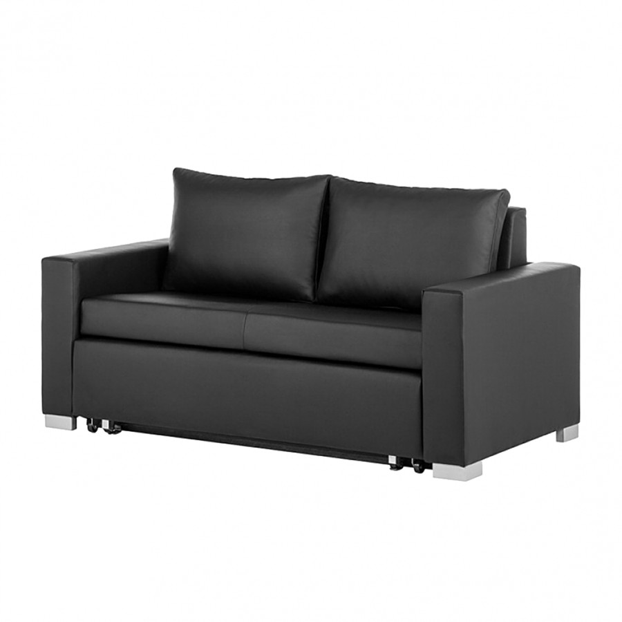 schlafsofa latina kunstleder schwarz home24. Black Bedroom Furniture Sets. Home Design Ideas
