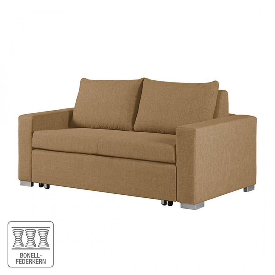 schlafsofa latina webstoff gold braun home24. Black Bedroom Furniture Sets. Home Design Ideas