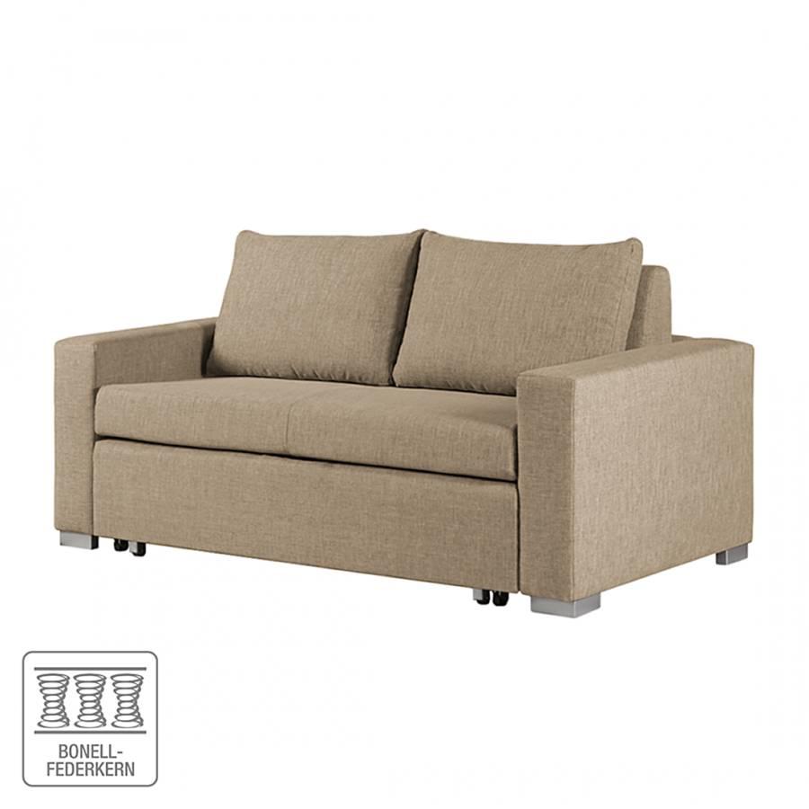 schlafsofa latina in sand wei inklusive 2 r ckenkissen. Black Bedroom Furniture Sets. Home Design Ideas
