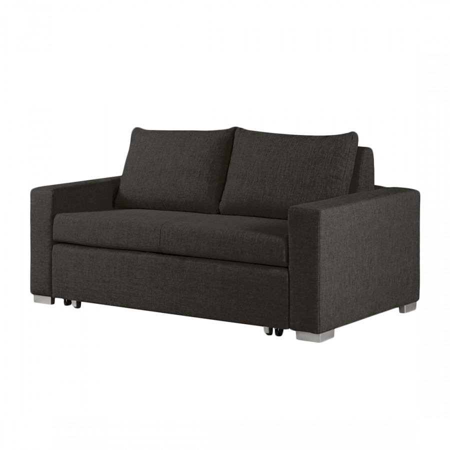 schlafsofa latina webstoff schwarz braun home24. Black Bedroom Furniture Sets. Home Design Ideas