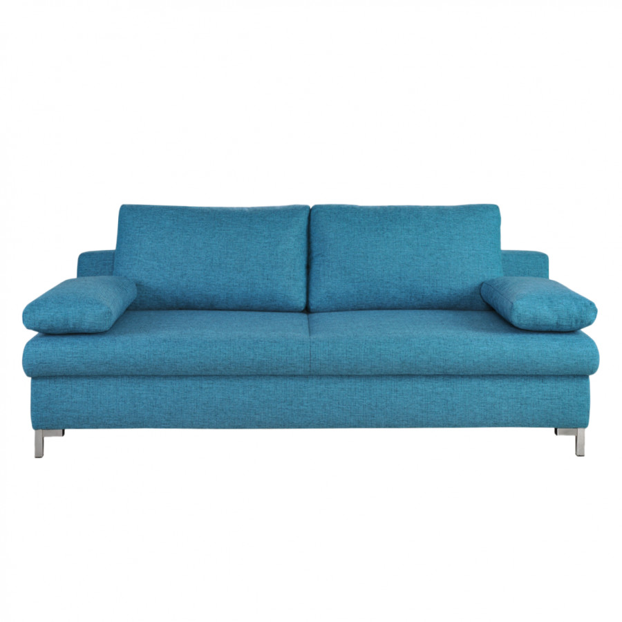 Canap convertible munster tissu structur turquoise - Canape convertible turquoise ...