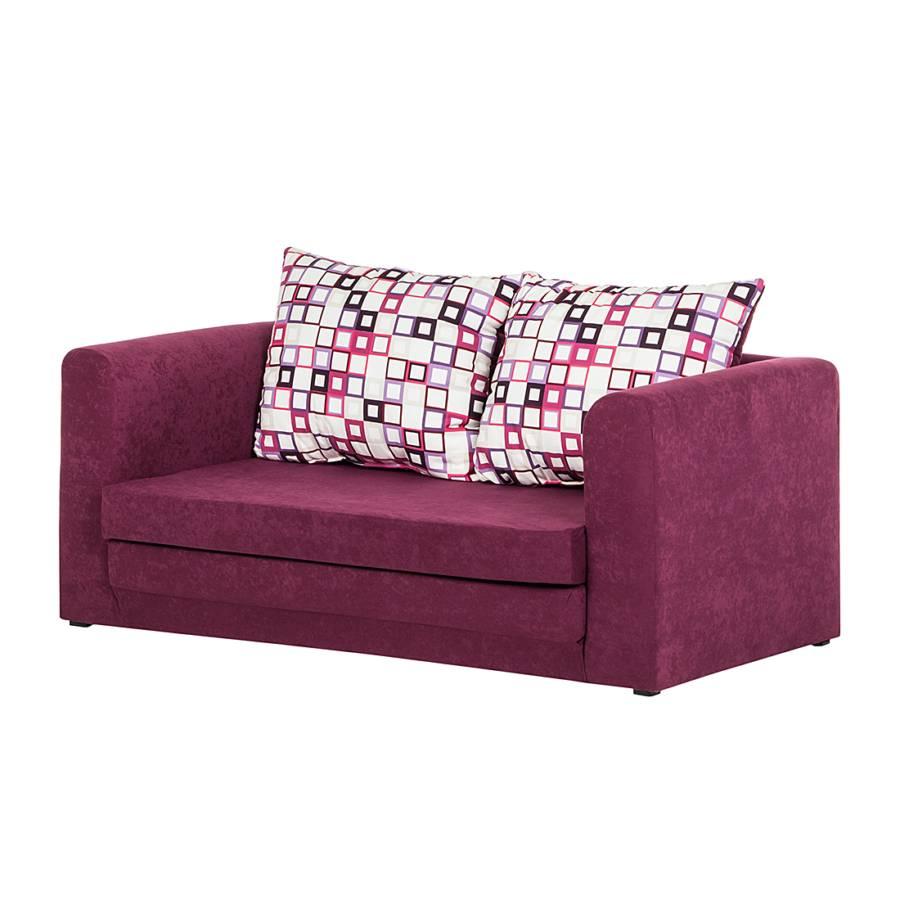 schlafsofa petty microfaser lila. Black Bedroom Furniture Sets. Home Design Ideas