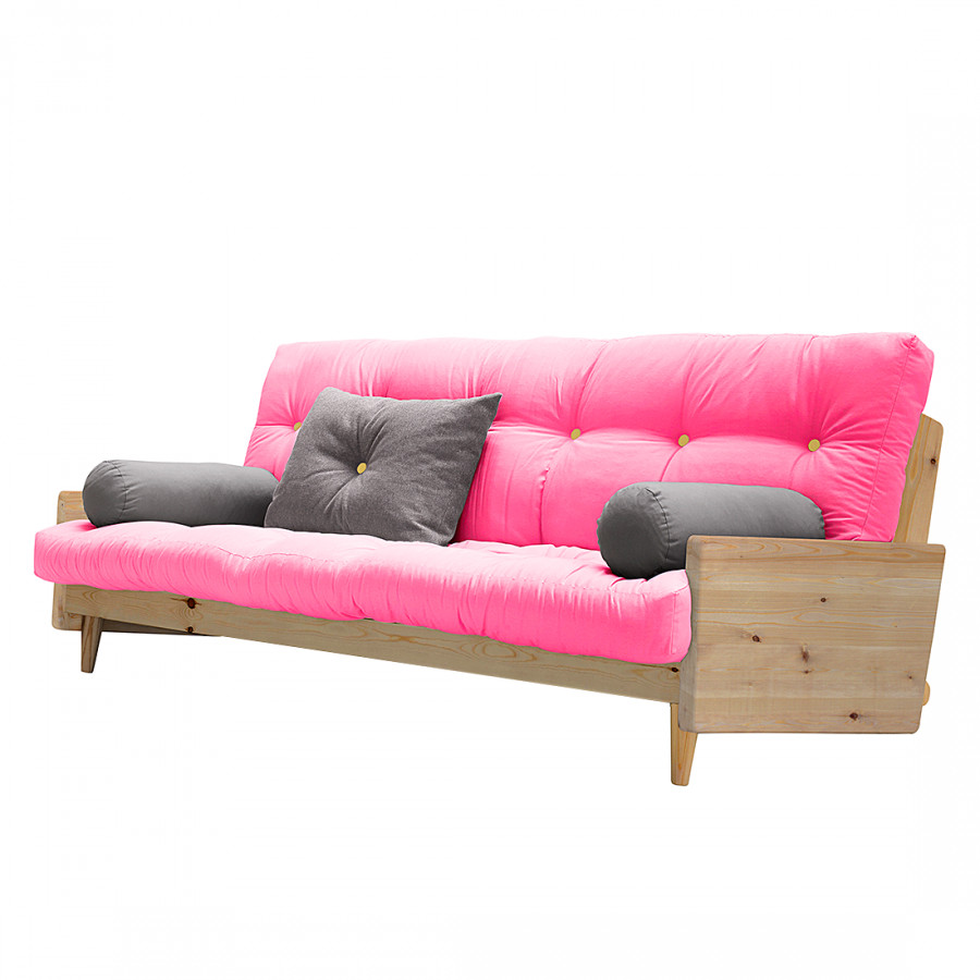 schlafsofa indie pinie massiv webstoff home24. Black Bedroom Furniture Sets. Home Design Ideas