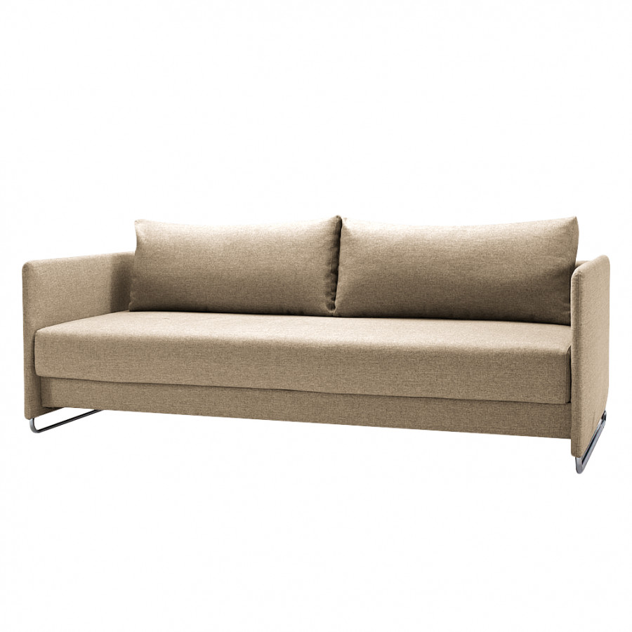 Schlafsofa upend webstoff taupe home24 for Schlafsofa taupe