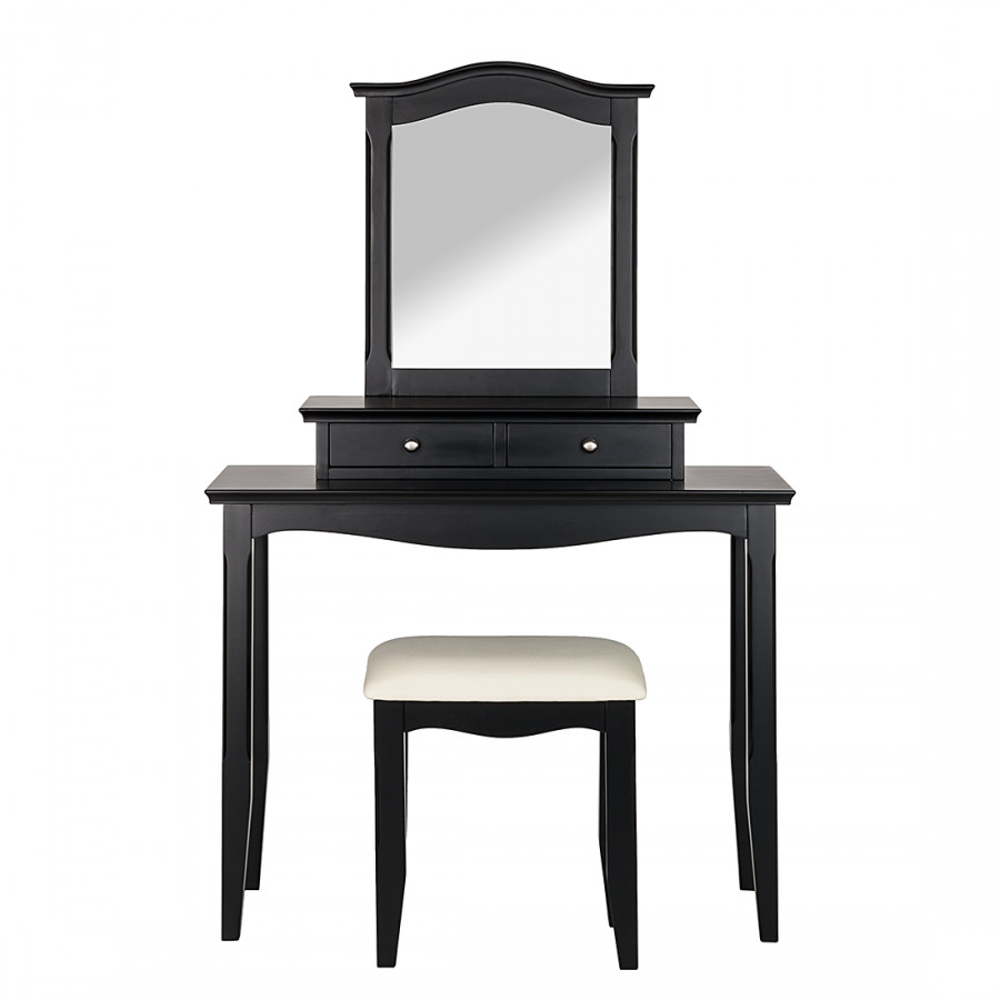 schminktisch giselle inkl hocker schwarz home24. Black Bedroom Furniture Sets. Home Design Ideas