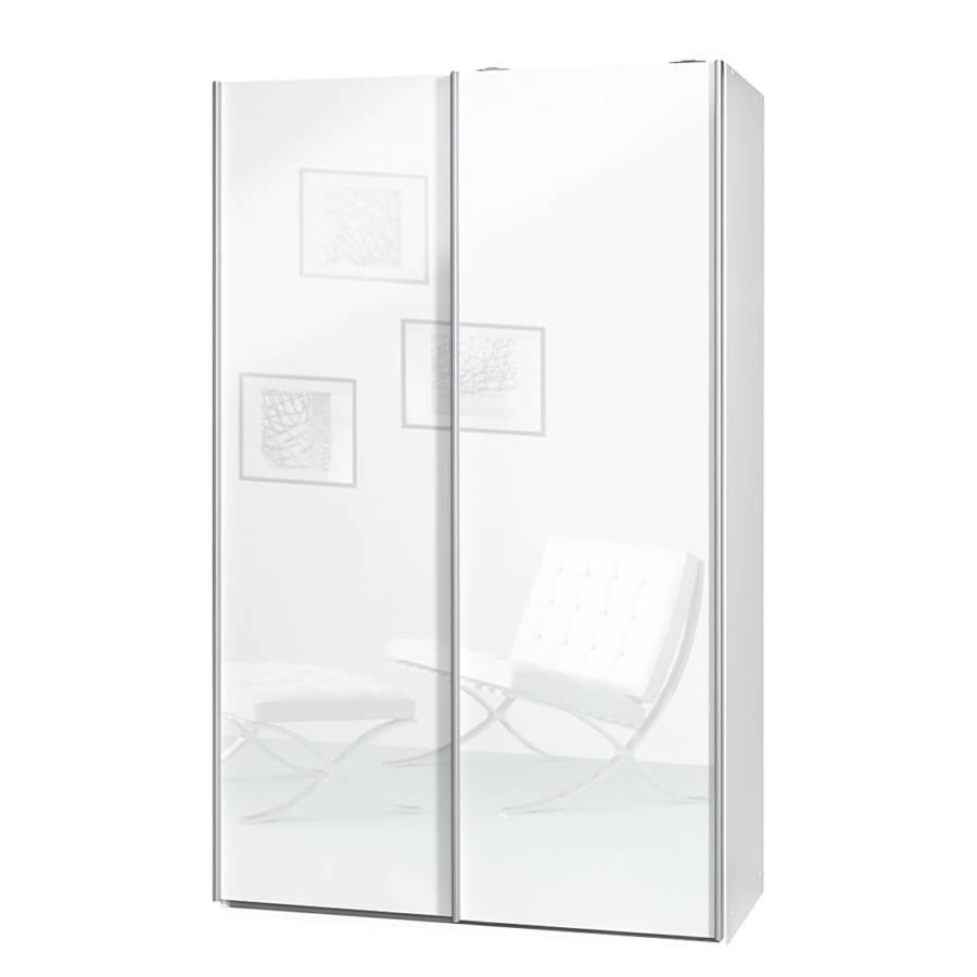 Armoire portes coulissantes soft smart ii blanc for Armoire 2 portes coulissantes largeur 120 cm