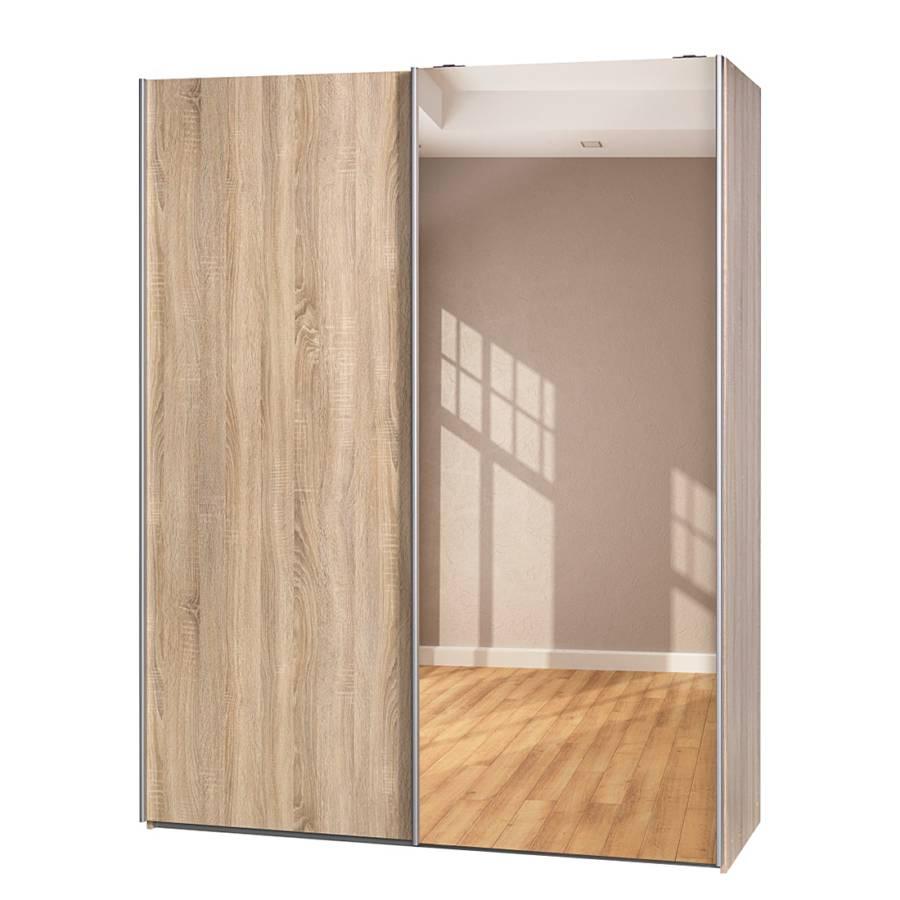 schwebet renschrank soft smart ii eiche dekor spiegel home24. Black Bedroom Furniture Sets. Home Design Ideas