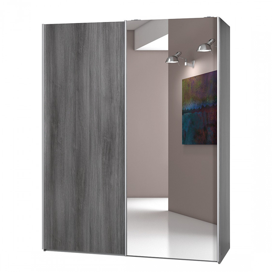 Armoire portes coulissantes soft smart ii imitation for Armoire 100 cm porte coulissante