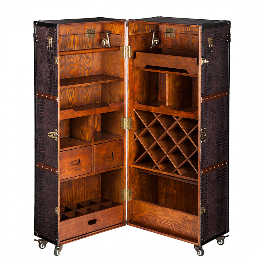 armoire coffre colonial bar. Black Bedroom Furniture Sets. Home Design Ideas