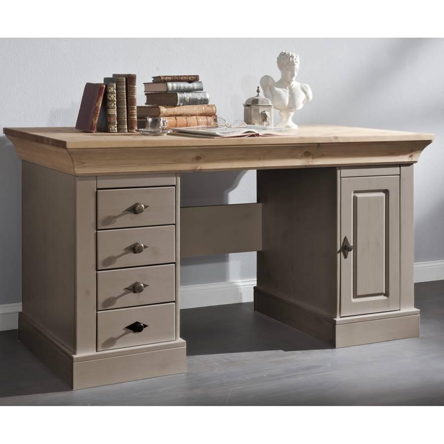 Schreibtisch von landhaus classic bei home24 bestellen for Schreibtisch kiefer massiv
