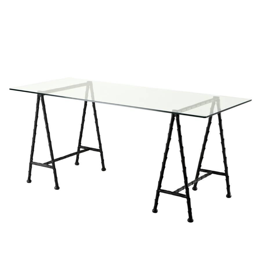 schreibtisch barton metall glas home24. Black Bedroom Furniture Sets. Home Design Ideas