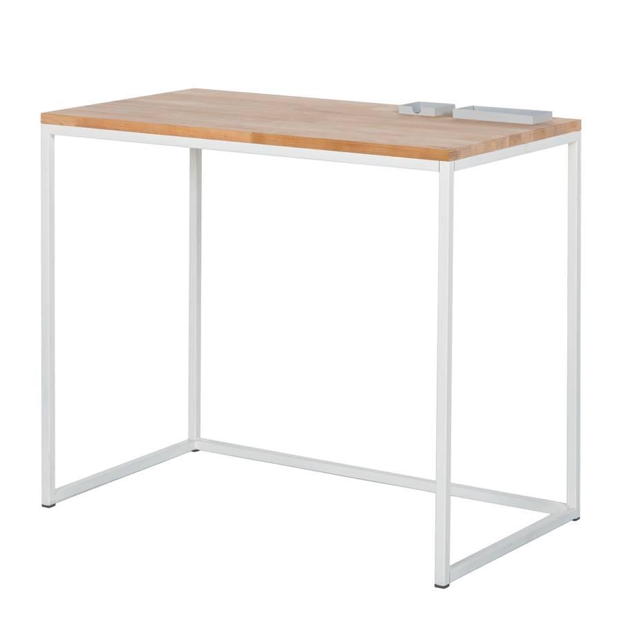 Schreibtisch ilona mit ablageschalen in hellgrau online for Schreibtisch metall