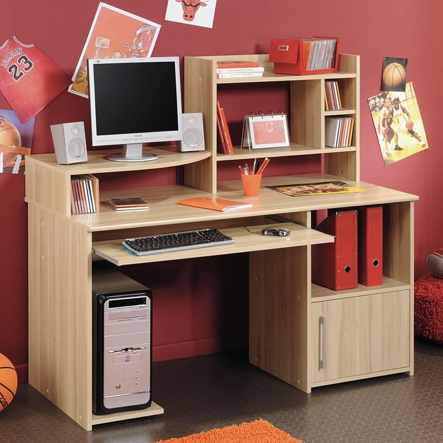 Parisot meubles kinder jugendschreibtisch f r ein for Schreibtisch kernbuche
