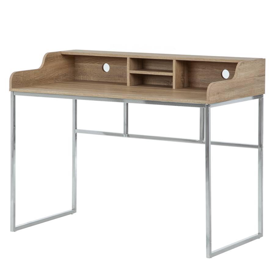 Schreibtisch lean ii sonoma eiche dekor chrom home24 for Schreibtisch reduziert